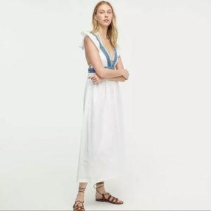 JCrew Ruffle Midi Dress V-neck Beach Dress